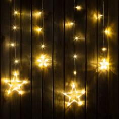 Sir luminos de Craciun - model stele - Alb cald, 6 mari, 6 mici, 2 x 1 m Best CarHome