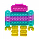 Jucarie Pop It, Robot, Antistres, Senzoriala, Multicolora, Oem