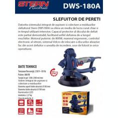 Slefuitor pentru pereti cu aspirator si lanterna 800 W Stern Austria DWS-180A