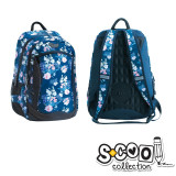 Ghiozdan compartiment laptop, FLOWERS, 43x27x15cm - S-COOL