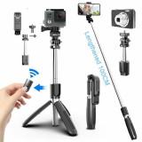 Trepied universal Bluetooth Selfie Stick 4 In1 smartphone-uri, Gopro