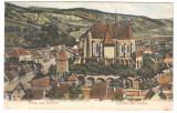 SV * BIERTAN * VEDERE GENERALA * BISERICA FORTIFICATA * Gruss aus Birtälm   1908, Sibiu, Circulata, Fotografie, Printata