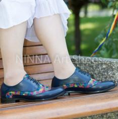 Pantofi dama casual din piele Ninna Art 314 foto