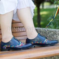 Pantofi dama casual din piele Ninna Art 314