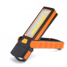 Lanterna De Lucru Cu Magnet ,Alimentare 4xR3 , COB Led 3W - ElectroAZ