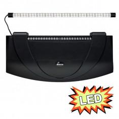 Capac acvariu cu iluminare 80x35cm LED EXPERT 17W - NEGRU, curbat