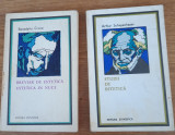 Breviar de estetică Benedetto Croce și Studii de esetică A. Schopenhauer