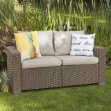 Canapea cu 2 locuri cappuccino Keter California