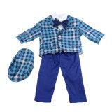 Costum de botez pentru baieti 5 piese Mini Junior CEB-16, Albastru