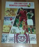 Bilet Fotbal CFR Cluj Benfica Lisabona 2007 amical centenar program Romania