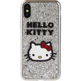 Husa Capac Spate Glitter Hello Kitty APPLE iPhone Xs