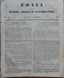 Ziarul Foaia pentru minte , inima si literatura , nr. 45 , 1853