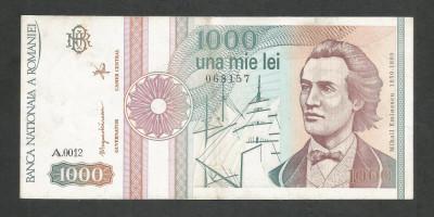 ROMANIA  1000  1.000  LEI  1991  [6]  XF   ,  serie  cu  punct foto