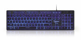 Tastatura Multimedia USB backlight 3 culori Black, Gembird KB-UML3-01, Gaming