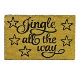 Cumpara ieftin Covoras decorativ de Craciun, 60 x 40 cm, mesaj Jingle All The Way