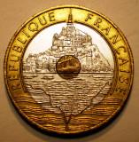 1.966 FRANTA MONT ST. MICHEL 20 FRANCS FRANCI 1992 XF TRIMETAL, Europa