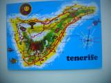 HOPCT  74061  HARTA  TENERIFE  SPANIA-STAMPILOGRAFIE -CIRCULATA