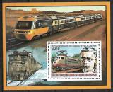 Africa Centrala(Rep.)1996 - Trenuri 5 blocuri  neuzat,perfecta stare(z), Nestampilat