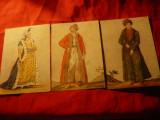 Set 3 Ilustrate Boieri din Tara Romaneasca - Moda Turceasca