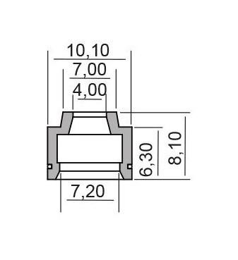 Semering supapa XCENTER 125 Cod Produs: MX_NEW 100669250RM foto