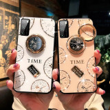 Husa pietricele + inel rotativ ' Clock ' Samsung S51 ; S71
