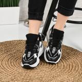 Pantofi Sport De Dama Elastici Negri 36 EU Negru