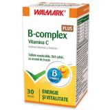 B complex + Vitamina C cu aroma de fructe, 30 tablete, Walmark