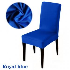 Set 12 huse scaun universale, elastice, masa, husa de scaun, albastru