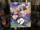 102 Tablou floral Pictura cu flori Tablou cu flori de camp, peisaj cu flori