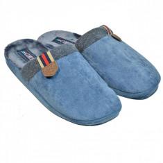 Papuci anatomici de casa, imblaniti, marime 41-42, albastru