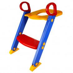 Reductor pliabil cu scara pentru copii, reglabil, 12 luni+