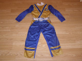 costum carnaval serbare power rangers ninja pentru copii de 3-4 ani