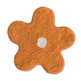 Covoraș portocaliu de baie bumbac steluță Alegra