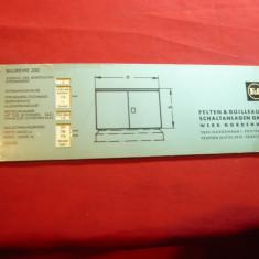 Rigla veche carton  Firma Felten si Guilleaume Germania-pt.Tolerante in domeniul