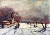 Teodor Raducan , Drum in Mogosoaia , ulei pe carton 30 x 40 cm, Peisaje, Altul