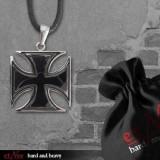 Pandantiv otel inoxidabil Crucea de Fier Neagra