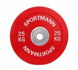 Cumpara ieftin Disc Greutate Cauciuc - 25 kg / 51 mm, Sportmann