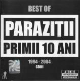 Paraziții – Primii 10 Ani Vol.1+Vol.2, CD, originale, holograma