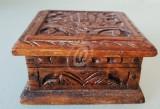 Cutie bijuterii din lemn sculptata pentru bijuterii, 8 cm