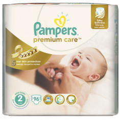 Scutece Pampers Premium Care 2 New Baby, 96 buc, 3 - 6 kg