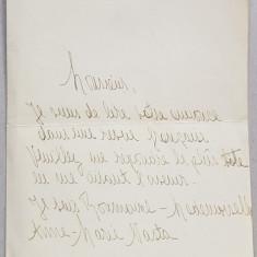 SCRISOARE IN LIMBA FRANCEZA TRIMISA DE DOAMNA ANNE - MARIE NASTA , PERIOADA INTERBELICA