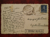 1943-C.P. circ. -CENZURAT ORSOVA 6-St.Tr.Severin-Baile Herculane, Necirculata, Printata
