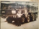 Foto mașină Tatra, format mare, 23/17 cm, număr de Călărași, liptă pe carton