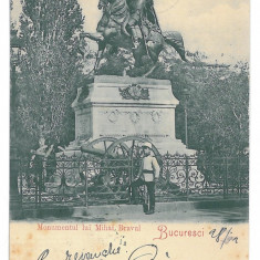 4572 - BUCURESTI, Mihai Viteazul Monument, Litho - old postcard - used - 1901, Circulata, Printata