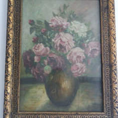 Tablou Vechi - Vaza cu flori - Stacili Ri (68)