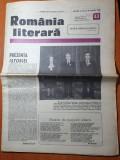 Romania literara 20 octombrie 1988-andrei muresanu,ceausescu vizita in coreea