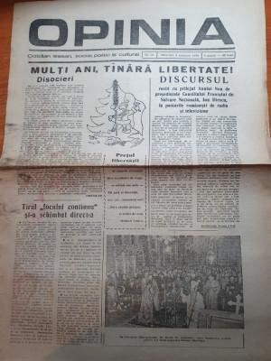 opinia 3 ianuarie 1990-discursul lui iliescu cu prilejul anului nou.revolutia foto