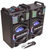 Set 2 boxe karaoke 700W Bluetooth, microfon