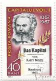 """100 de ani de la aparitia lucrarii """"Capitalul"""" de Karl Marx, 1967 - obliterat, Carti, Stampilat"""