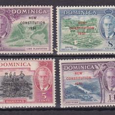 Dominica  1951   vederi  MI 133-136  MLH  w59, Nestampilat